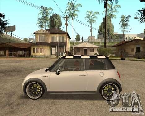 Mini Cooper para GTA San Andreas traseira esquerda vista