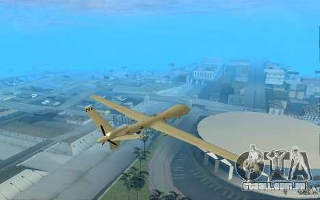 RQ9 Predator para GTA San Andreas traseira esquerda vista