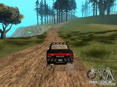 Dodge Charger Canadian Victoria Police 2011 para GTA San Andreas vista interior