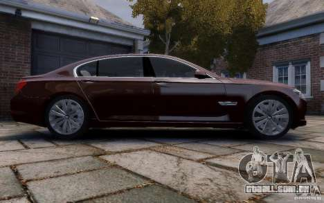 BMW 760Li 2011 para GTA 4 vista interior
