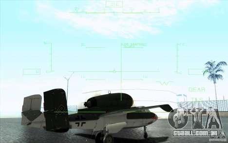 Henkel 162A Salamander para GTA San Andreas vista superior