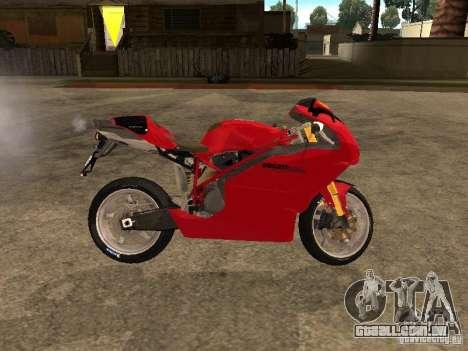 Ducati 999s para GTA San Andreas esquerda vista