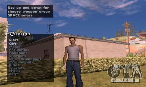 Weapon spawner para GTA San Andreas