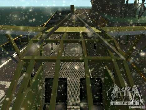 2 Linhas de aeronaves do jogo por trás do inimig para GTA San Andreas vista interior