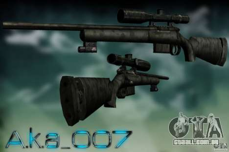Sniper - Forest Camouflage para GTA San Andreas