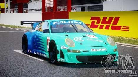 Porsche GT3 RSR 2008 para GTA 4 vista de volta