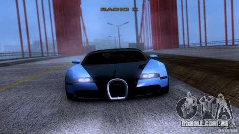 Bugatti Veyron 16.4 para GTA San Andreas vista traseira