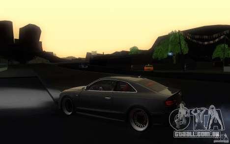 Audi S5 Black Edition para GTA San Andreas esquerda vista