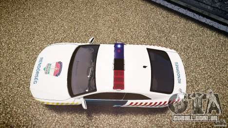 Audi S5 Hungarian Police Car white body para GTA 4 vista direita