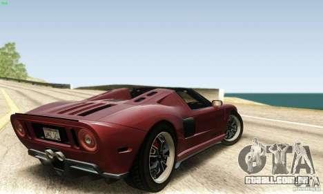 Ford GTX1 Roadster V1.0 para GTA San Andreas esquerda vista