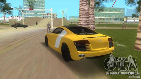 Audi R8 V10 TT Black Revel para GTA Vice City deixou vista