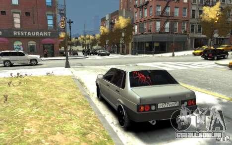 VAZ 21099 para GTA 4 traseira esquerda vista