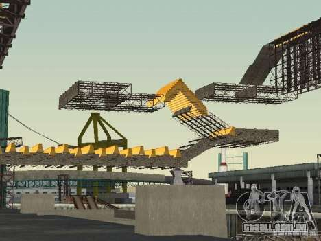 Huge MonsterTruck Track para GTA San Andreas por diante tela