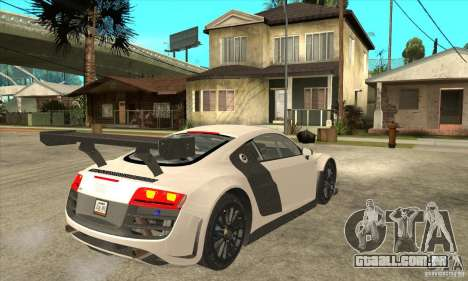 Audi R8 LMS v1 para GTA San Andreas vista direita