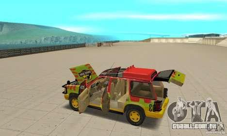 Ford Explorer (Jurassic Park) para GTA San Andreas vista superior