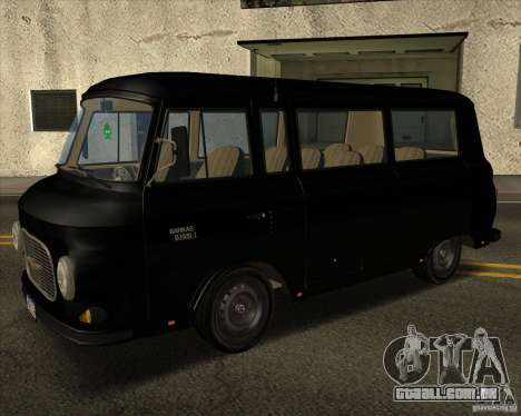 1961-1991 Barkas B1000 para GTA San Andreas vista traseira