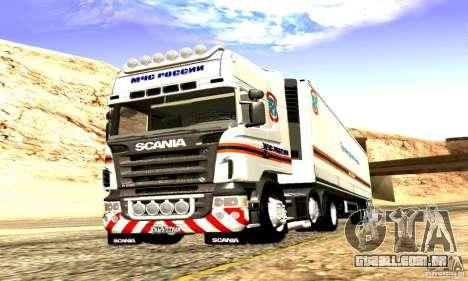 Scania R620 Emercom da Rússia para GTA San Andreas vista interior