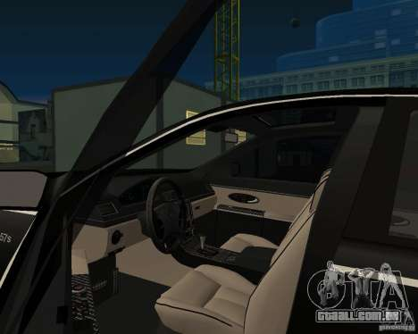 Maybach 57S para GTA San Andreas traseira esquerda vista