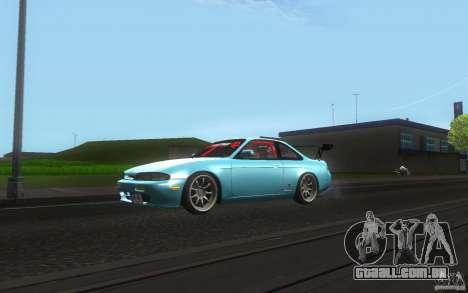 Nissan Silvia S14 Zenkitron para GTA San Andreas esquerda vista