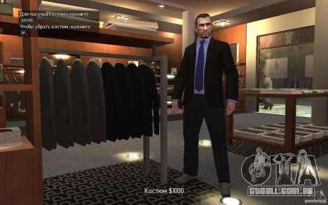 Jaquetas abertas com laços para GTA 4 quinto tela