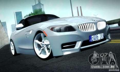 BMW Z4 Stock 2010 para GTA San Andreas esquerda vista