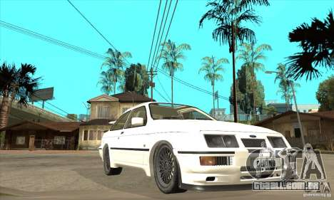 Ford Sierra RS500 Cosworth 1987 para vista lateral GTA San Andreas