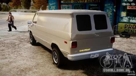 Chevrolet G20 Vans V1.1 para GTA 4 traseira esquerda vista