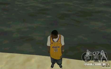 Afro-American HD skin para GTA San Andreas segunda tela