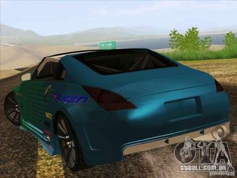 Nissan 350Z Falken Tire para GTA San Andreas esquerda vista