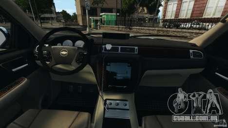 Chevrolet Tahoe LCPD SWAT para GTA 4 vista de volta