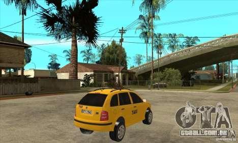 Skoda Fabia Combi Taxi para GTA San Andreas vista direita