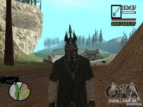Capacete Ner Zula para GTA San Andreas segunda tela