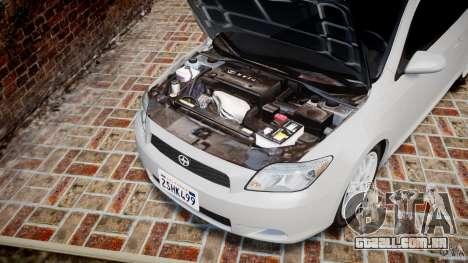 Toyota Scion tC 2.4 Stock para GTA 4 vista interior