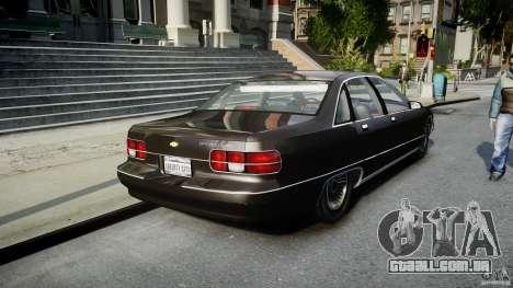Chevrolet Caprice FBI v.1.0 [ELS] para GTA 4 traseira esquerda vista