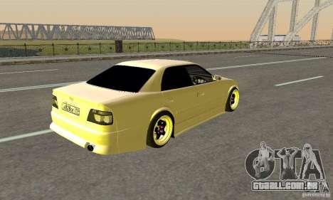 Toyoyta Chaser jzx100 para GTA San Andreas esquerda vista