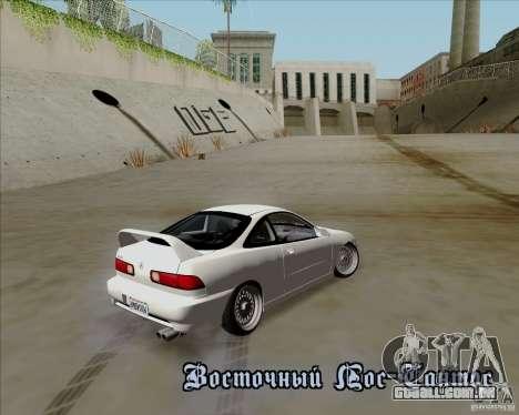 Acura Integra para GTA San Andreas vista interior