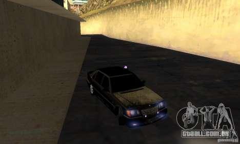 Mercedes-Benz W140 S600 Long Deputat Style para GTA San Andreas vista traseira