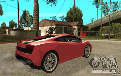 Lamborghini Gallardo LP550 Valentino Balboni para GTA San Andreas vista direita