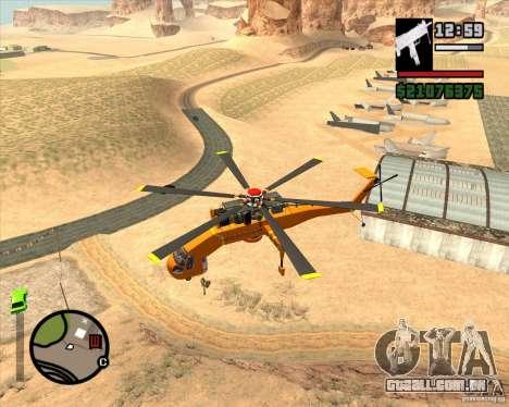 Skylift para GTA San Andreas esquerda vista