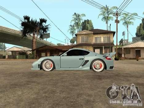 Porsche Cayman S para GTA San Andreas esquerda vista