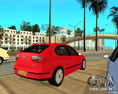 Seat Leon 1.9 TDI para GTA San Andreas vista direita