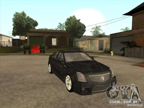 Cadillac CTS-V 2009 para GTA San Andreas vista traseira