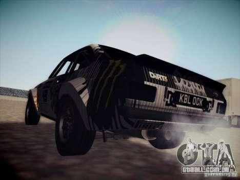 Ford Escort MK2 Gymkhana para GTA San Andreas traseira esquerda vista