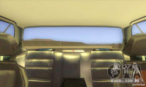 BMW 735i E23 1979 para GTA San Andreas vista interior