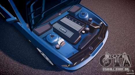 BMW 530I E39 e63 white wheels para GTA 4 vista inferior