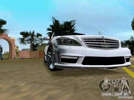 Mercedes-Benz S65 AMG 2012 para GTA Vice City vista traseira esquerda