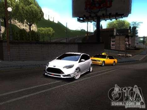 Ford Focus 2012 ST para GTA San Andreas traseira esquerda vista