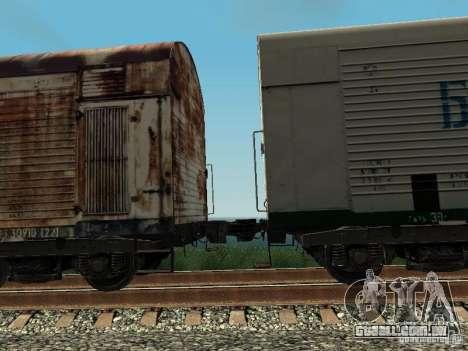 Carroça Refrežiratornyj Dessau n º 4 Rusty para GTA San Andreas vista traseira