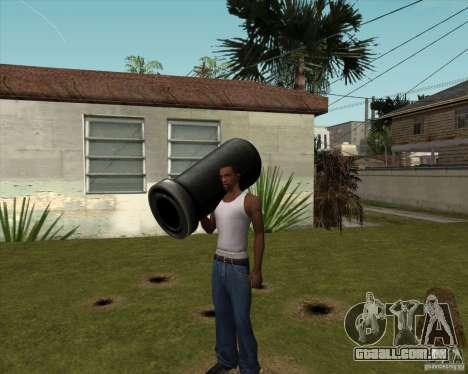 Canhão de Serious Sam para GTA San Andreas