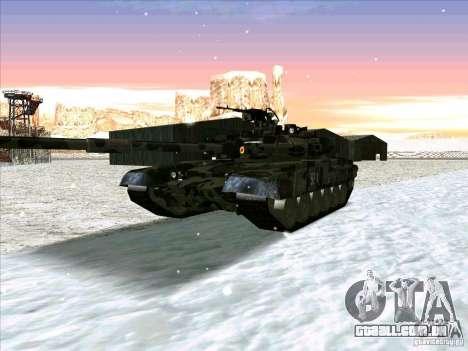 T-90 de Battlefield 3 para GTA San Andreas esquerda vista